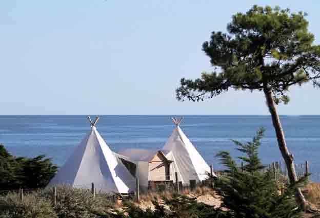 Bretagne ce n est pas ma cabane au canada mais plut t mon tipi noirmouti - Camping noirmoutier tipi ...