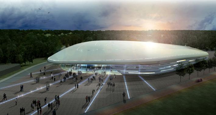 Antibes Une Salle Sportive Polyvalente D Aspect Futuriste